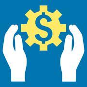 Financial Insurance Options Flat Vector Icon - stock illustration