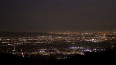 Medium night view of east los angeles 2 Stock Footage