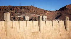 Hoover Dam an Engineering Feat Stock Photos