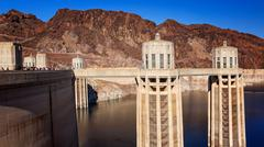 Hoover Dam Towers - stock photo