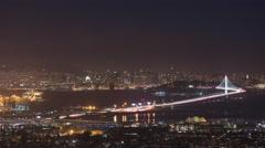 San Francisco Bay Bridge Timelapse 4K Stock Footage