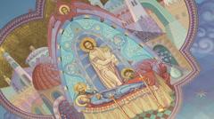 Ukrainian Orthodox Church candle Stock Footage