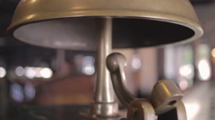 San Francisco Cable Car bell in museum Stock Footage
