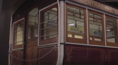San Francisco Cable Car trolley in museum Stock Footage