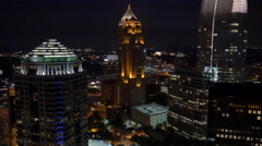 Downtown Atlanta Aerial Footage Stock Footage