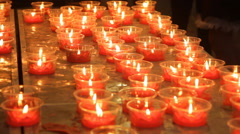 burning candles - stock footage