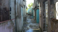 Movi going down Puerto Rico Alley Stock Footage