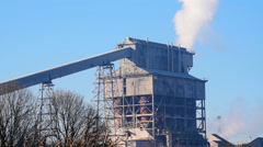 Giant Industrial Structure Stock Footage