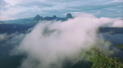 Ban Wang Khon, Surat Thani, Through Clouds, Over Hills Stock Footage