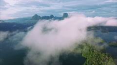 Ban Wang Khon, Surat Thani, Above Clouds, Island Stock Footage