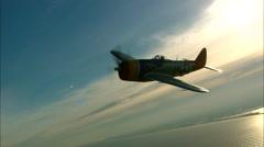 P-47 Thunderbolt Sunset Stock Footage