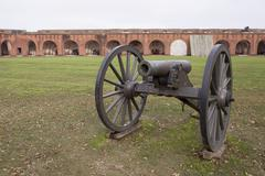 Cannon and fort - stock photo