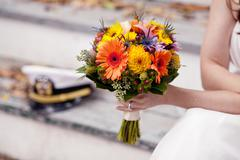 Stock Photo of Bouquet and hat