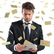 Stressed spam - stock photo
