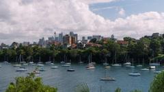 Sydney CBD Time Lapse taken from Mosman Bay Stock Footage