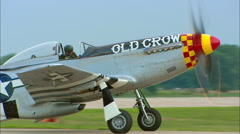 P-51 Mustang Taxi Stock Footage