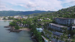 Phuket Thailand Flying Inland Stock Footage