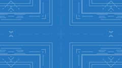 Blueprint Background Stock Footage