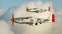 P-51 Mustang Formation Air to Air Stock Footage