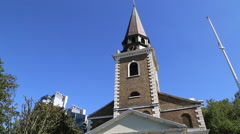 St Mary's church, Battersea,  London, UK Stock Footage