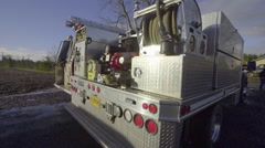 Back of a fire truck Stock Footage