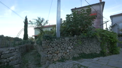 View of old buildings on Krk Island Stock Footage