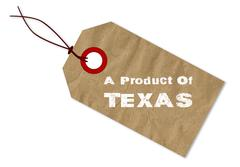 A Product Of Texas - stock illustration