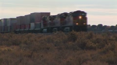 Train with commercial boxcars Stock Footage