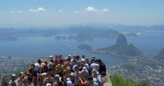 Tourists Taking Photos at Corcovado Mountain in Rio de Janeiro, Brazil Stock Footage