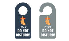 Do not disturb. Door hanger. Keep quiet sign. Vector - stock illustration