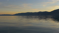 Beautiful view of the Adriatic Sea and Krk Island at evening Stock Footage