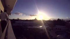 PUNTA CANA, DOMENICAN REPUBLIC JANUARY 29 Time lapse of a sundown at a hotel  Stock Footage