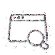 People  shape  questionnaire check mark Stock Illustration