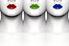 Stock Illustration of Colorful lips