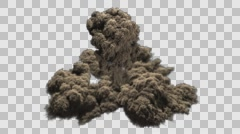 Dust shockwave with mushroom clouds Stock Footage