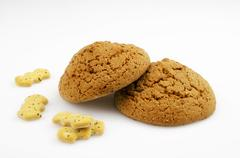 Oatmeal cookies with sugar - stock photo