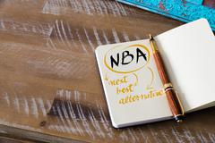 Business Acronym NBA as NEXT BEST ALTERNATIVE Kuvituskuvat