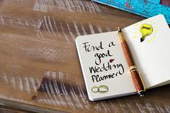 Written text FIND A GOOD WEDDING PLANNER Kuvituskuvat