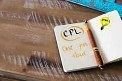 Business Acronym CPL COST PER LEAD Stock Photos