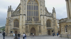 Bath Abbey in Bath, Somerset, UK. - stock footage
