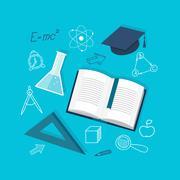 Flat education content Stock Illustration