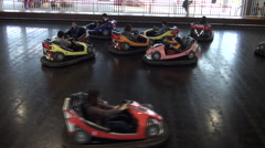 People in Bumper Cars, Taipei Children's Amusement Park Stock Footage