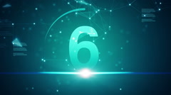 Twenty seconds countdown, abstract futuristic background Stock Footage