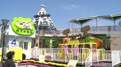 Crazy Bus, Taipei Children's Amusement Park Stock Footage