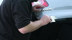 Repairing car dents Stock Footage