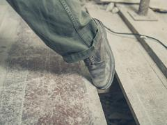 Trip hazard on building site Stock Photos