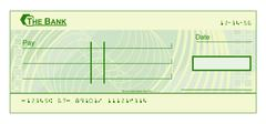 Blank Cheque Stock Illustration