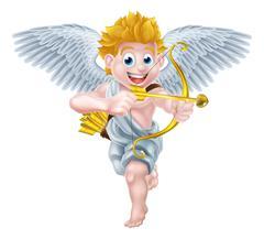 Valentines Cupid Angel - stock illustration