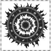 Zodiac symbols vector - stock illustration