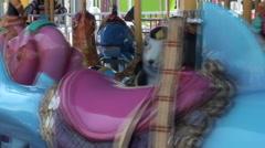 Ocean Carousel, Taipei Children's Amusement Park Stock Footage